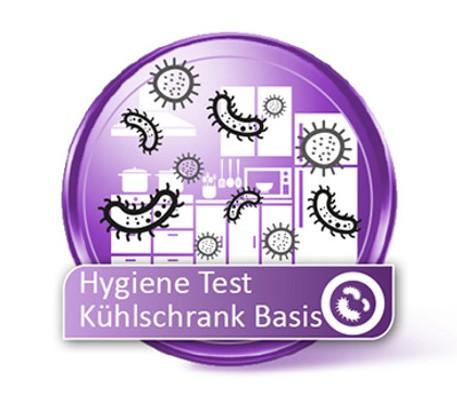 BASIS Kühlschrank Hygiene Test auf Bakterien