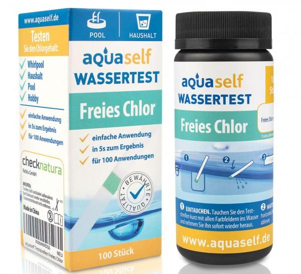 aquaself Chlor Wasserteststreifen