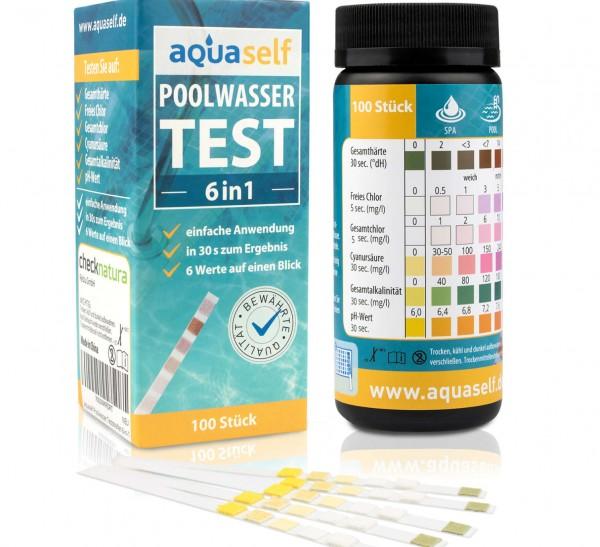 aquaself Pool Wasserteststreifen 6-in-1